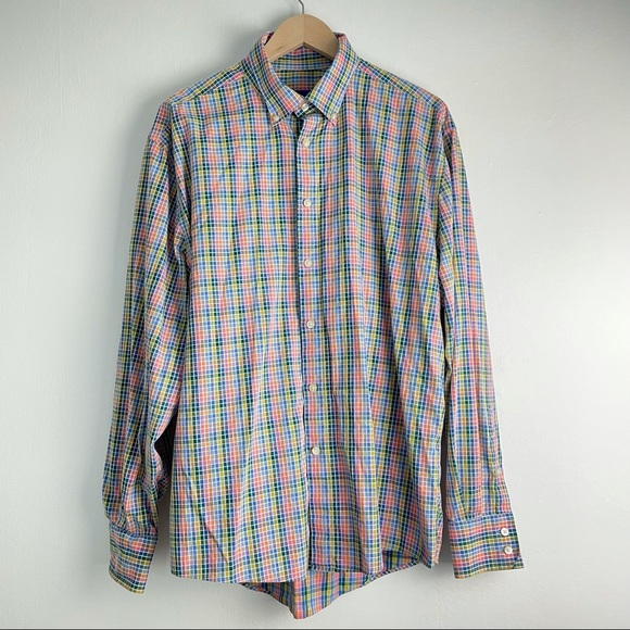 VINTAGE Shacket Multi Colored Checkers William W